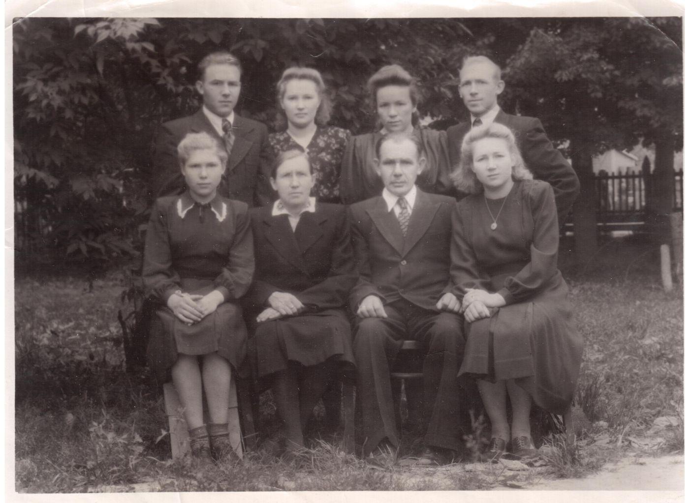 Семья Лобачевых в 1950 г.