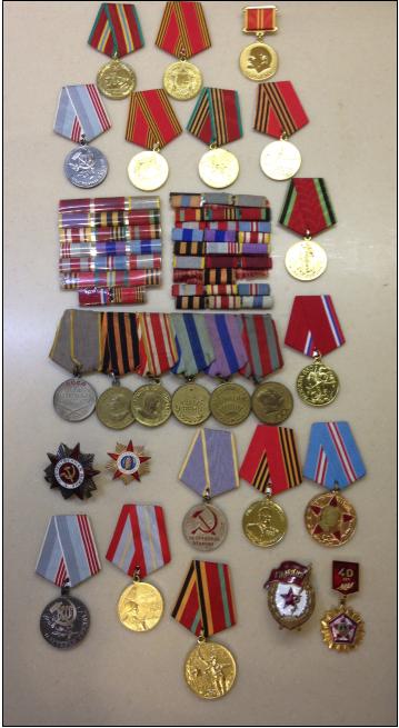 В.В. Пулькин-медали и ордена