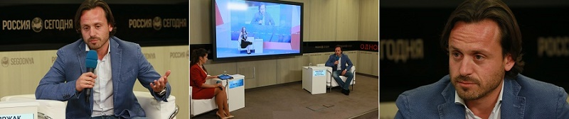 Алексей Каспржак - пресс-конференция в РИА Новости